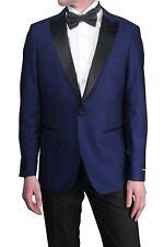 London Fog Men's Peak Lapel Regular Fit Two Piece Tuxedo Suit