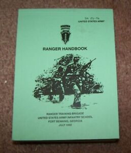 U.S. ARMY RANGER HANDBOOK, 1992 DATED, U.S. ISSUE *COPY*
