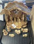 12 Pcs Olive Wood Nativity Set Handmade Holy Land