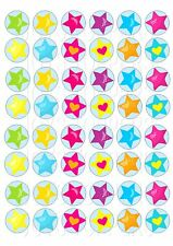 48 MINI STARS CUPCAKE TOPPER WAFER RICE EDIBLE FAIRY CAKE  TOPPER