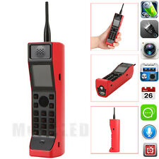 Classic Old Vintage Brick Cell Phone Retro Mobile Phone Camera FM Radio Red