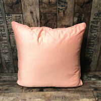 Pack Of 4 Pink Sateen Filled Piped Cushion Cover 16x16'' Bedroom / Living Room