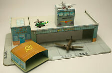 VINTAGE TIN TOY AIRPORT PLANES MARX TOYS (?) MECCANO JAPAN FRICTION TOY AIRLINES