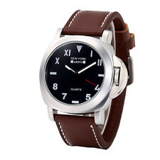 Newyork Army Silver Case Oversized Roman Men's Watch NYA8937-D. Brown COD PAYPAL