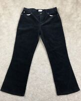 Calvin Klein Size 13 Corduroy Black Pants Cotton Boot Cut