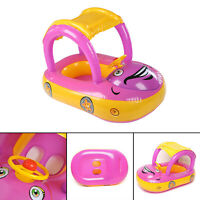 UK Children Inflatable Kids Baby Toddler Swimming Pool Swim Seat Float Boat Car