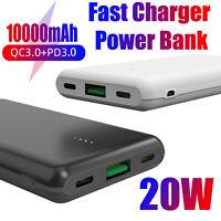 10000mAh Portable Power Bank USB Type C Fast Charging External Battery Backup US