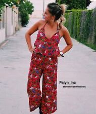 NWT ZARA SS17 FLORAL PRINT JUMPSUIT CROPPED WIDE LEG 3062/172