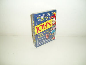 """The Names the Game """"John"""" card game by Paul Lamond (New & Sealed) 2002"""