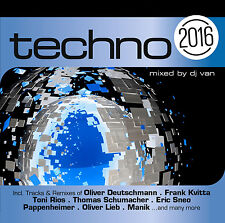 CD Techno 2016 von Various Artists 2CDs