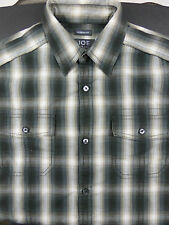 JOSEPH ABBOUD Men's  Long Sleeve Plaid Casual Shirt Size S Small Chest Pockets