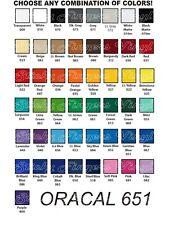 "15 Rolls ORACAL 651 Vinyl 12"" x 24"" each roll for Cricut - Choose any Colors"