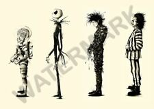 Tim Burton film Beetlejuice Edward Scissorhands A3 Art Imprimé Photo Affiche GZ6156