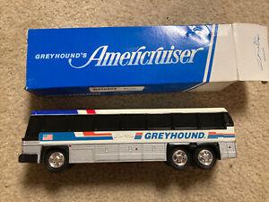 "GREYHOUND Americruiser 10"" Plastic Bus Coin Bank In Box Vintage Original NEW"