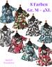 Lagenlook A-Linie Glocken-Print-Shirt Tunika Jersey 8 Farben 44,46,48,50,52,54