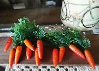 12 x Möhren Karotten 4.5 cm Osterdeko Dekoration Gemüse Kunstgemüse Gelbe Rüben