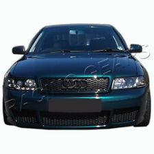 FOR AUDI A4 S4 B5 RS4 STYLE ABS MESH BLACK FRONT UPPER HOOD BUMPER GRILLE GRILL