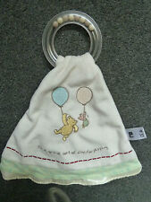 Mothercare Pooh Bear its a grand sort of day for playing Blankie/Comforter ring