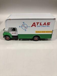 S5/1) First Gear 1/34 Mack Atlas Van Lines Moving Truck White Green