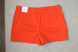 "Ann Taylor LOFT Womens Orange The Riviera Short Size 6 By 4"" Inseam"