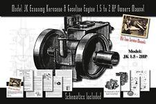 Model Jk Economy Kerosene & Gasoline Engine 1½ to 2 Hp Service Manual Parts List