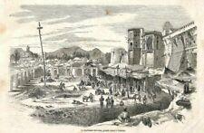 TEHERAN (IRAN) LE KORKHANE-MEI-DAN, GRANDE PLACE / GRAVURE ENGRAVING 1852