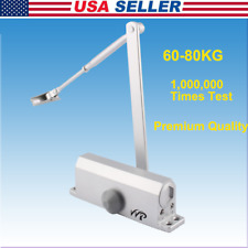 Aluminum Commercial Door Closer Two Independent Valve Control Heavy Duty 60-80KG