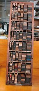 Letterpress Printer's Furniture Cabinet (Hamilton Mfg.) 32 1/4 inches tall