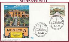ITALIA FDC FILAGRANO VILLE VILLA ALDROVANDI MAZZACURATI 1985 TORINO Y893