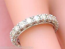 VINTAGE 1.89ctw BRILLIANT DIAMOND PLATINUM ETERNITY BAND RING 1950 size 6.75 - 7