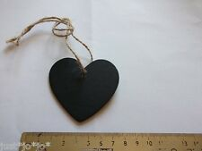 Mini Chalk Black Board Boards Heart x5 String Label Hanging Tag Place Card (53)