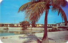 Key West Florida Hilton Haven Motel Water Front View Vintage Postcard (J13209)