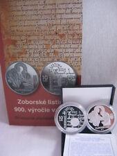 SLOWAKEI 2011 10 EURO SILBER MÜNZE COIN PP PROOF - ZOBORER URKUNDEN -