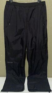 NWOT Marmot Men's Size Large Precip Black Waterproof Rain Hiking Pants L