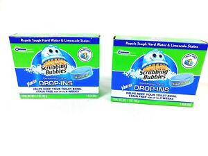 Scrubbing Bubblues Vanish Drop-Ins Toilet Cleaning Tablet 1 ea (Pack of 2) blue