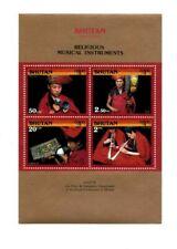 Bhutan 1990 948a - Buddhist Instruments -  S/S w/ 4v - MNH