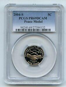 2004 S 5C Peace Medal Jefferson Nickel PCGS PR69DCAM