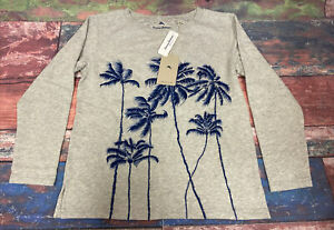 Tommy Bahama Women's Palm Viable Embrd Crew Neck Sweatshirt Size XSmall