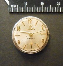 Darwil Ladies Wrist Watch Movement and Case Back Plate for Parts