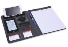 Portfolio A4 Conference Folder Leather Document Wallet Clipboard A4 Leather Fold