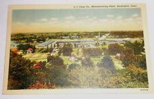 Case Steam Engine Tractor Manufacturing Plant Postcard Burlington Iowa IA