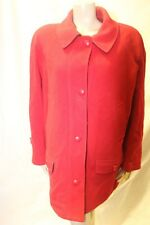 Ladies Essential Wool blend red coat size 18 Vibrant Winter Jacket