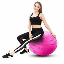 Mirumb Swiss Ball, Ballon Fitness 75CM 65CM 55CM Pilates Big 75 CM, Rose-1
