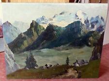 Alpenpanorama - Dolomiten - Blick auf die Marmoladagruppe - signiert Winger