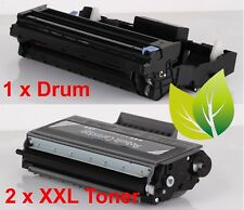 2 x Toner XXL, 1 x Drum Set Hochwertig Rebuilt, ersetzt Brother TN-3280, DR-3200