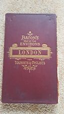 Bacons Map of the Environs of London. for Tourists & Cyclists. c1870