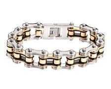 """LIFETIME WARRANTY Biker Chain Bracelet Stainless Steel 3/4 """" Wide 8.5"""" Length"""