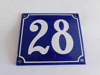 9 ns fab france Enamel plaque number street enamel genuine # 800 ° c house no