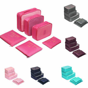 6PCS Travel Luggage Organizer Bag Cube Storage Clothes Underwear Packing