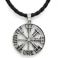 Viking Compass Necklace - asatru heathen nordic Vegvisir Guidance and Protection